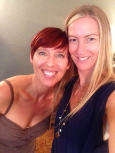 Tina Hoffman -Owner of Hair Sanctuary & me with my new fiery red 'do!
