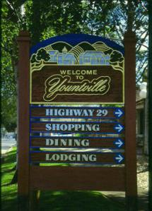 Yountville sign