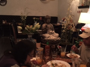 The Buddha watching over you as you dine!