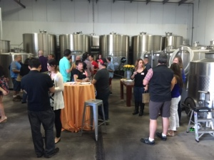 Our group's tour of the cellar & winemaking process