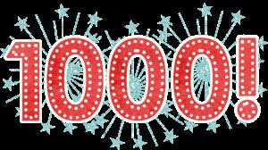 Celebrating 1000 Blog Followers!