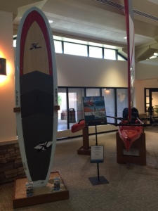 Cherry Capitol Airport has it's own Stand Up Paddleboard!