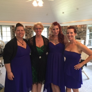 My sister Christy, my Mom Kit, my sister Kodie and me. Ready for the festivities to begin!