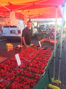 So many organic strawberries! Oh joy!