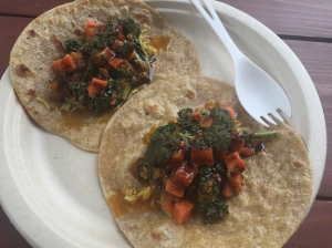 vegan tacos wrapped in delicious paratha bread